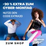 Reebok Cyber Wochenende – bis zu 50% Rabatt + 20% Extra-Rabatt