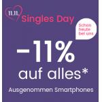 Universal Singles Day – 11% Rabatt auf alles (außer Smartphones)