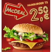 McDonalds McDeal Dezember – Hamburger TS um 2,50 € statt 3,60 €