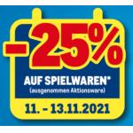 Metro – 30% Rabatt auf Spielwaren (exkl. Aktionsware) von 29.-31.7.