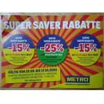 Metro – 10% bzw. 20% Rabatt auf Artikel eurer Wahl (am 14. August)