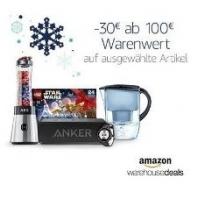 Amazon Warehouse Deals – 30 € Rabatt ab 100 € Warenwert (bis 22.12.)