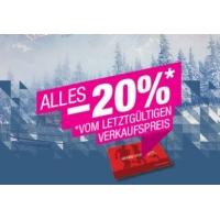 Hervis: 25% Rabatt in den Stores / 20 % Rabatt im Onlineshop