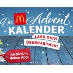 McDonald's Adventkalender 2019 – täglich neue Angebote