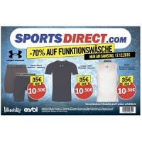 Sports Direct – 70 % Rabatt auf Funktionsunterwäsche am 17.12.