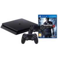 PS4 Slim 1TB + 2 Controller + Uncharted 4 um 274 € statt 395 €!