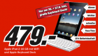 Apple iPad 2 + iPad Keyboard Dock um 479€ zwischen 26. – 28.8.2011 @Media Markt