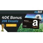 40 € Amazon.de Gutschein für eine 20 € Wette für mybet Neukunden!