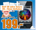 Apple iPod touch MP3-Player (Facetime, HD Video, Retina Display) 8 GB + 50€ iTunes Gutschein um 199€ @Saturn