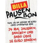 Billa Pausen Bon Gutscheine – über 16 € sparen (bis 19. April)