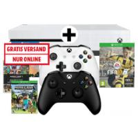 Xbox One S 500GB + 2 Controller + FIFA 17 + MineCraft um nur 255 €