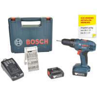 TOP! Bosch Professional GSR 1440-LI Akku-Bohrschrauber + 2 Akkus 1.5Ah + Bitset inkl. Versand um 69 € statt 121,99 €