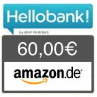 Hello bank! Depot – 60 € Amazon.de + keine Depotgebühr bis Ende 2019