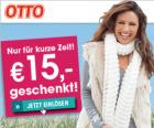 15€ Gutschein ab einem Mindestbestellwert von 50€ @Ottoversand.at