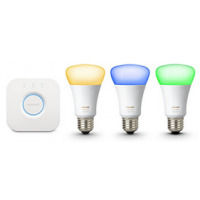 Philips Hue White & Color E27 10W Starter-Kit um 120 € statt 141 €