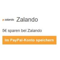5 € Zalando Gutschein bei Bezahlung mit PayPal (Mindestbestellwert 10 €)