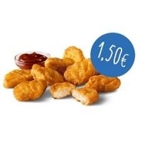 McDonalds: 9er Chicken McNuggets + 2 Saucen nach Wahl um 1,50 €