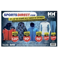 Sports Direct – 70 % Rabatt auf das Helly Hansen Skisortiment (bis 15.2.)