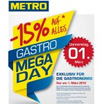 Metro – 15 % Rabatt auf euren Einkauf (exkl. Aktionen) – am 1. März