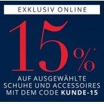 Peek&Cloppenburg  – 15 % Rabatt auf Accessoires (Schuhe, Taschen, …)