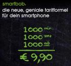 smartbob (1000 Min. / 1000 SMS / 1GB Daten) für 9,90€ wieder verfügbar!