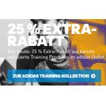 Adidas Outlet – Training-Artikel mit bis zu 50% Rabatt + 25% Extra Rabatt