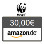 30 € Amazon Gutschein für mind. 30 € WWF Patenschaft erhalten