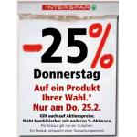 Interspar – 25% Rabatt auf ein Produkt eurer Wahl am 25. Februar 2021