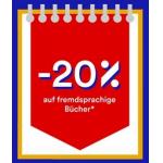 20 % Rabatt auf fremdsprachige Bücher bei Thalia – nur heute