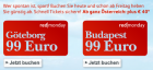 Um 99€ nach Göteborg oder Budapest @Austrian redmonday