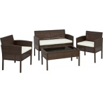 TOP! Loungegarnitur (Tisch+Sitzbank+2 Sessel) inkl. Versand um 74,25 €