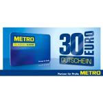 30 € Metro Gutschein beim Einkauf ab 150 € (brutto) + 15 % Rabatt auf Non-Food Artikel (exkl. Werbeware) von 18-22 Uhr