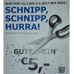 5 € Gutschein für IKEA im aktuellen Postkuvert (bis 2. April 2017)