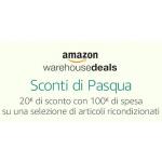 Amazon.it Warehousedeals – 20 € Rabatt ab 100 € Bestellwert (bis 9.4.)