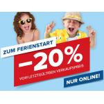 Hervis Onlineshop – 20 % Rabatt auf (fast) ALLES