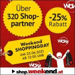 Shopping Days auf Weekend.at – 25 % Rabatt auf über 120 neue Shops