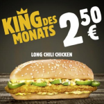 Burger King – King des Monats September: Long Chili Chicken um 2,50 €