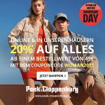 Peek&Cloppenburg – 20% Rabatt auf ALLES ab 99 € Bestellwert