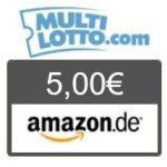 5 € Amazon Gutschein für 3 Eurojackpot-Tipps um 2 € bei MultiLotto.com