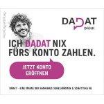 DADAT Bank – 100 € Startbonus für neues Gehaltskonto