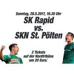 2x Tickets für Rapid : St. Pölten am 28. Mai um 20 € statt 50 €