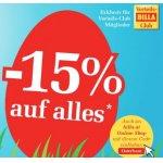 Billa SuperOsterBons – 15% Rabatt auf fast alles – auch online!