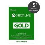 Xbox Live Gold für 3 Monate & 5 € Bonusguthaben um 19,99 €