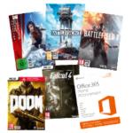 Office 365 + 5 PC-Games inkl. Versand um 44 € statt 151,70 €