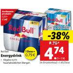 Red Bull (Original) um 0,95 € bei Lidl am 28. Juli