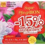 Billa Super Pfingst-Bon – 15% Rabatt auf fast alles – auch online!