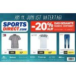 Sports Direct – 20 % Rabatt auf das Fashion-Sortiment (bis 10. Juni)