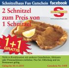 2 Schnitzel zum Preis von 1 Schnitzel @Schnitzelhaus