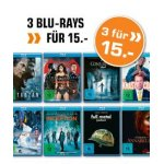 3 Blu-Rays um 15 € im Saturn Onlineshop – bis 13. August 2017