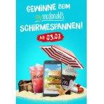 McDonalds – myMcDonald's Schirmespannen – gratis Produkte & Goodies